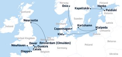 DFDS´iga Euroopasse