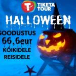 Halloweeni soodustus -66,6 EUR  broneeringult!